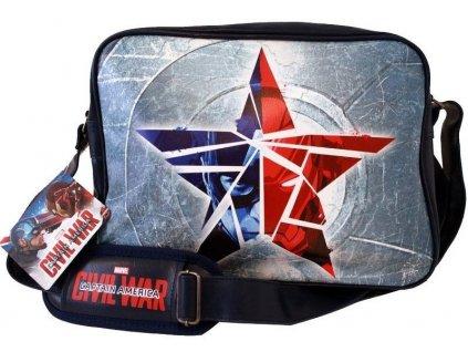 captain america civil war shoulder bag broken star navy 0