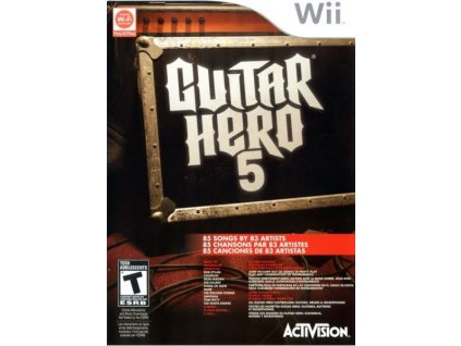 nintendo wii guitar hero 5 pouze hra bez obalu