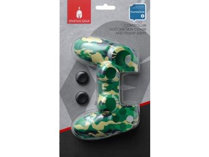 PS4 Spartan silikonový obal na ovladač kamufláž