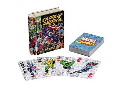 Hrací karty Captain America Marvel