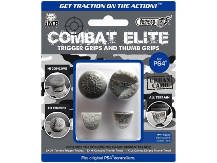 PS4 Trigger Treadz Combat Elite Trigger Grips and Thumb Grips