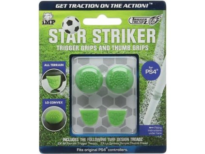 PS4 Trigger Treadz Star Striker Trigger Grips and Thumb Grips