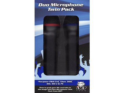 PS4/PS3/XONE/X360/Switch/Wiiu/Wii/PC IMP Tech Duo Microphone Twin Pack