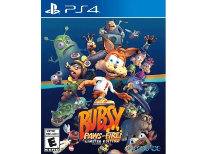 PS4 Bubsy Paws on Fire Limited Edition