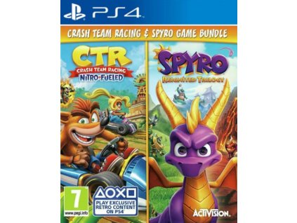 PS4 Crash Team Racing Nitro Fueled + Spyro Reignited Trilogy