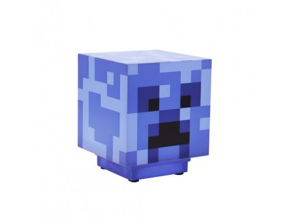 Lampička Minecraft Charged Creeper Blue