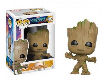 Merch Funko POP! 202 Marvel Guardians Of The Galaxy Vol. 2 Groot