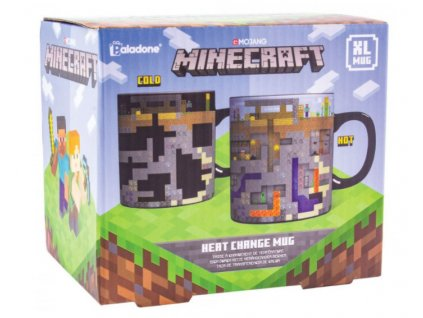 Merch Hrnek Minecraft Heat Change Mug XL