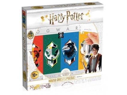 Merch puzzle Harry Potter znaky kolejí 500 dílků