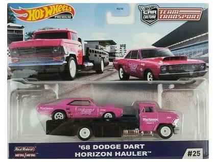 Toys Hot Wheels Premium Car Culture Team Transport 68 Dodge Dart Horizon Hauler