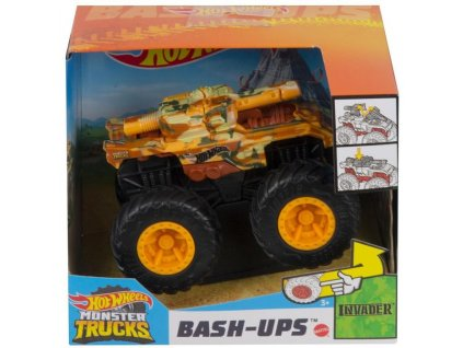 Toys Hot Wheels Monster Trucks BashUps Invader HBY56