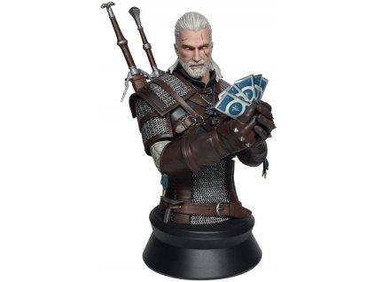 Merch Figurka Witcher 3 Wild Hunt Geralt Playing Gwent Bust