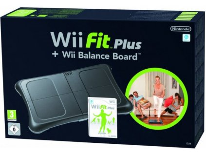 Wii/WiiU Fit Plus - Balance Board černý