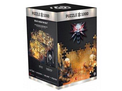 Merch Puzzle Zaklínač Playing Gwent 1000 dílků
