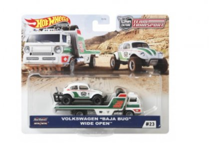 Toys Hot Wheels Premium Car Culture Team Transport Volkswagen Baja Bug Wide Open
