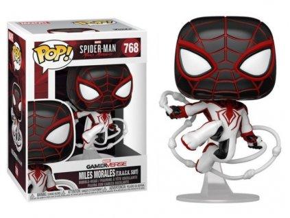 Merch Funko Pop! 768 Marvel Spider Man Miles Morales Miles Morales T.R.A.C.K. Suit