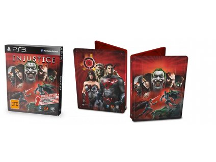 PS3 Injustice Gods Among Us Special Edition Steelbook