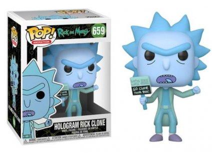 Merch Funko POP! 659 Rick and Morty Hologram Rick Clone