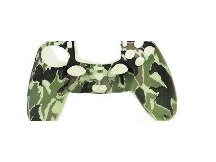 PS4 silikonový obal na ovladač kamufláž zelenošedočerný