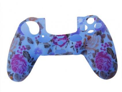 PS4 silikonový obal na ovladač rose modrý