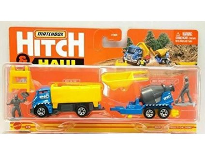 Toys Μatchbox Hitch and Haul Mbx Construction Zone Tilt n Tip and Mbx Cement Trailer