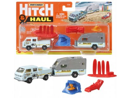 Toys Μatchbox Hitch and Haul Mbx Wave Rider Volkswagen Transporter Cab and Travel Trailer II