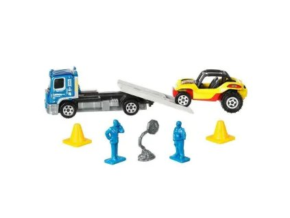 Toys Μatchbox Hitch and Haul Roadside Assistance Mbx Flatbed King and Baja Bandit