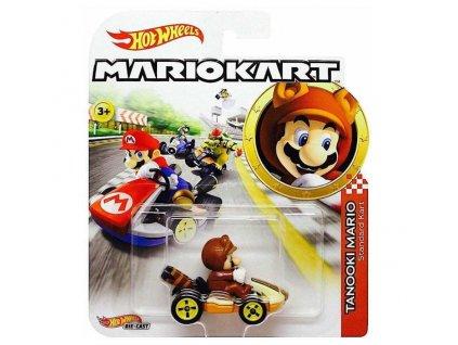 Toys Hot Wheels Mario Kart Tanooki Mario Standard Kart DieCast