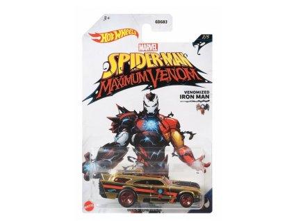 Toys Hot Wheels Marvel SpiderMan Maximum Venom Venomized Iron Man Jack Hammer1