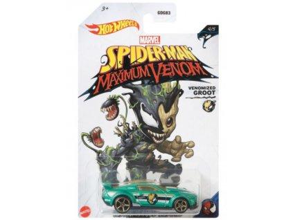 Toys Hot Wheels Marvel SpiderMan Maximum Venom Venomized Groot Custom 15 Ford Mustang1