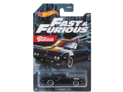 Toys Hot Wheels Fast & Furious The Fate Of The Furious 71 Plymouth GTX Vehicle1