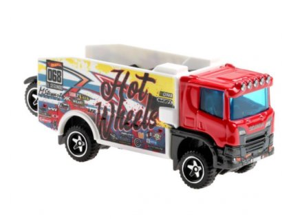 Toys Hot Wheels Track Stars Trailers Scania Rally Truck