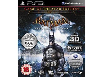 PS3 Batman Arkham Asylum Game of the Year Edition