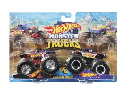 Toys Hot Wheels Monster Trucks Demolition Doubles Hot Wheels 4 vs Hot Wheels 1