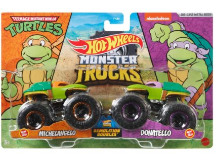 Toys Hot Wheels Monster Trucks Demolition Doubles Michelangelo vs Donatello