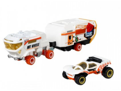 Toys Hot Wheels Super Rigs Red Planet Transport