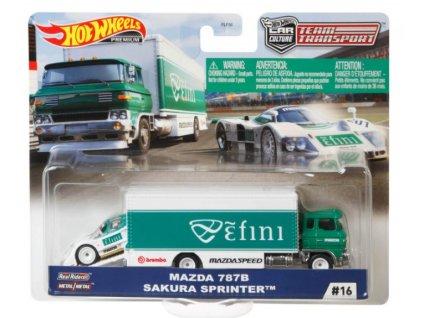 Toys Hot Wheels Premium Car Culture Team Transport Mazda 787B Sakura Sprinter