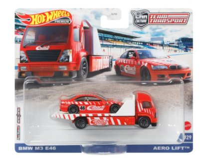 Toys Hot Wheels Premium Car Culture Team Transport Bmw M3 E46 and Aero Lift