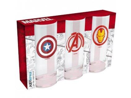 Merch Set Skleniček Marvel Avengers Captain America and Iron Man