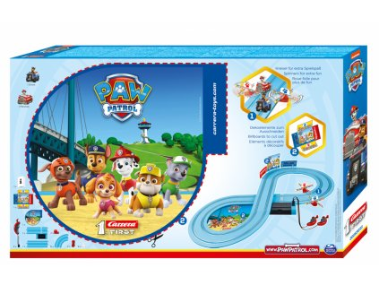 Toys Autodráha Carrera 1.first Paw Patrol Chase and Marshall On The Track