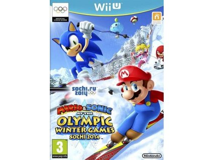 WiiU Mario and Sonic at the Winter Olympic Game