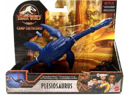 Toys Figurka Jurassic World Camp Cretaceous Dino Rivals Savage Strike Plesiosaurus