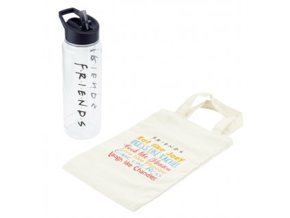 Merch Set Friends Water Bottle and Tote Gift