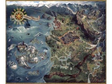 Merch Puzzle The Witcher 3 Witcher World Map 1000 dílků