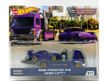 Toys Hot Wheels Team Transport RWB Porsche 930 Aero Lift