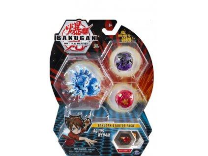 Toys Bakugan Battle Planet Bakugan Starter Pack Aquos Webam