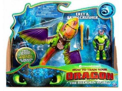 Toys How To Train Your Dragon Dragon and Viking Eret and Skullcrusher