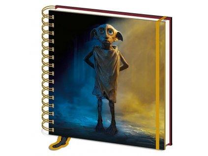 Merch Čtvercový Zápisník Harry Potter Dobby