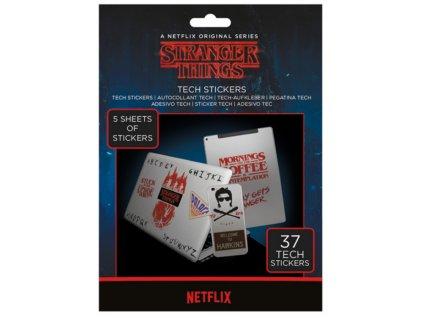 Merch Samolepky Stranger Things The Upside Down Tech Stickers Pack 37 ks