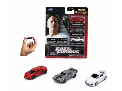 Toys Auto Fast and Furious 3 Pack Nano Cars Wave 4